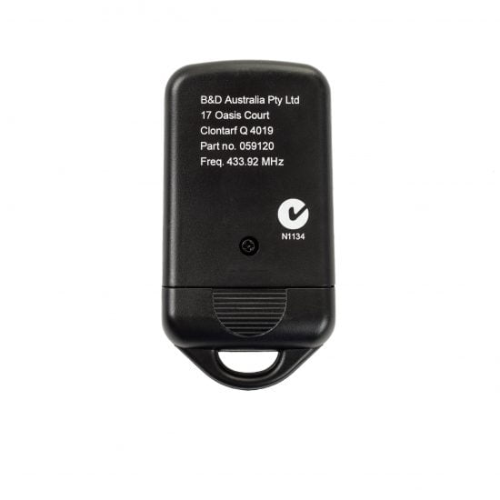 B&D PTX4 Garage Door Remote Control Holder Back