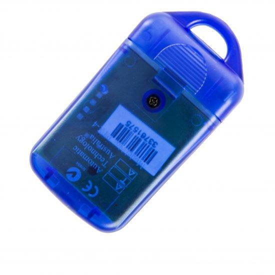 ATA PTX4 Blue Garage Door Remote SecuraCode Back