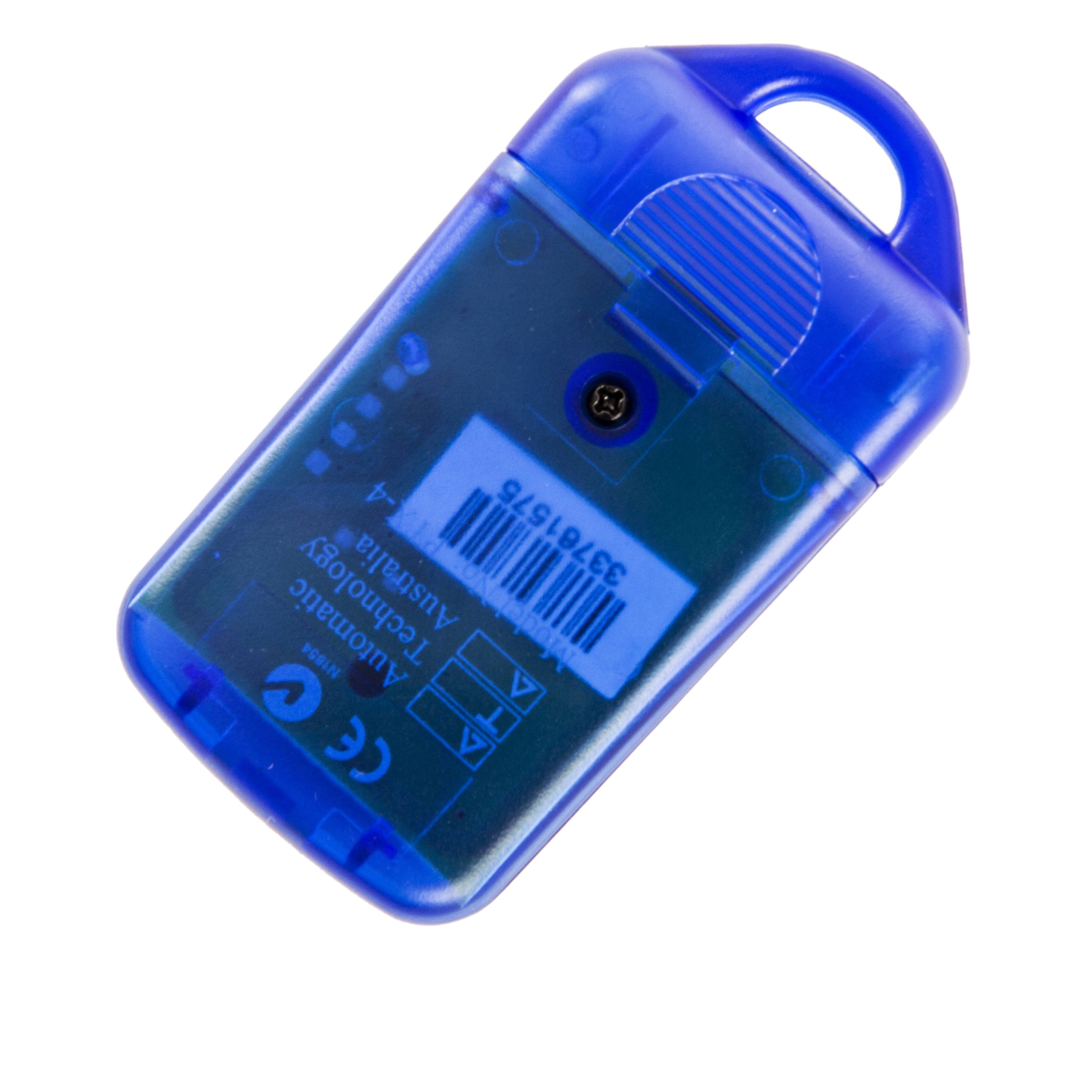 Ata Ptx4 Blue Garage Door Remote Securacode Securalift