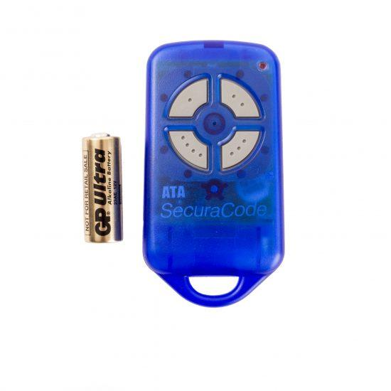 ATA PTX4 Blue Garage Door Remote SecuraCode Front