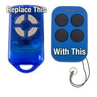 PTX4 Garage Opener Remote Blue