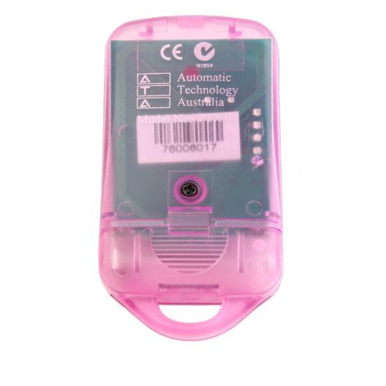 ATA PTX4 Pink Garage Door Remote SecuraCode Back