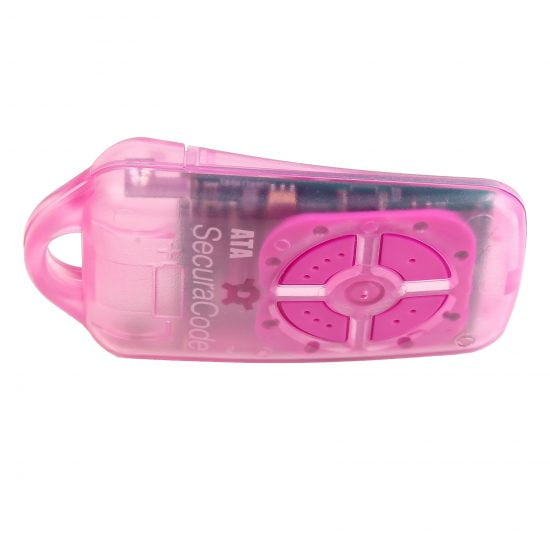 ATA PTX4 Pink Garage Door Remote SecuraCode Side