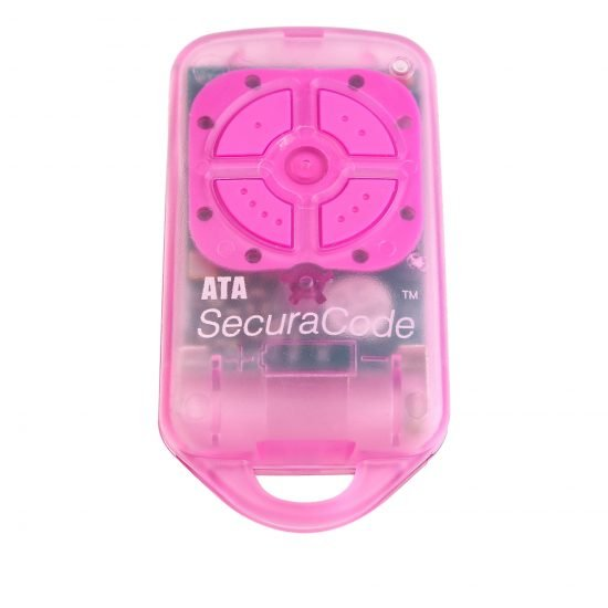 ATA PTX4 Pink Garage Door Remote SecuraCode Front
