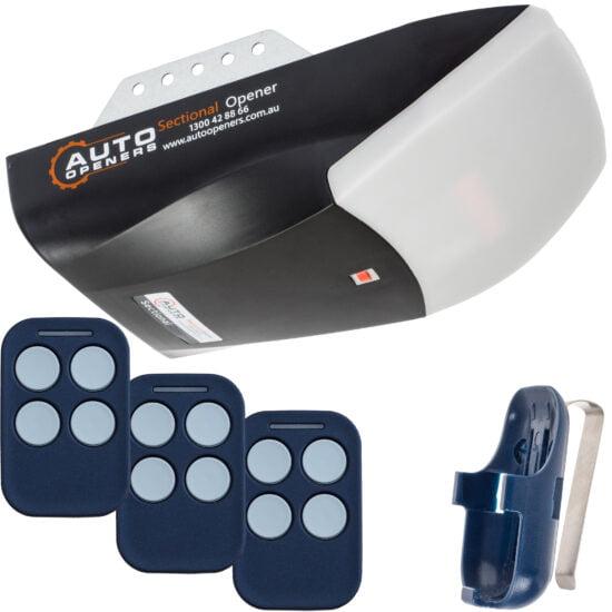 Auto Openers Sectional Garage Door Opener 3x Remotes