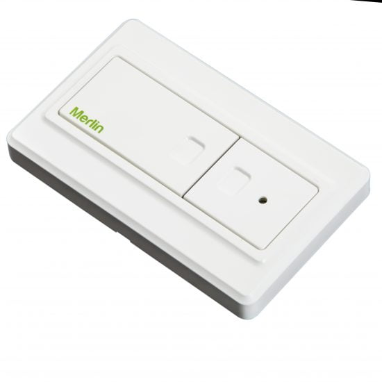 E138M Wireless Wall Button Front Angle