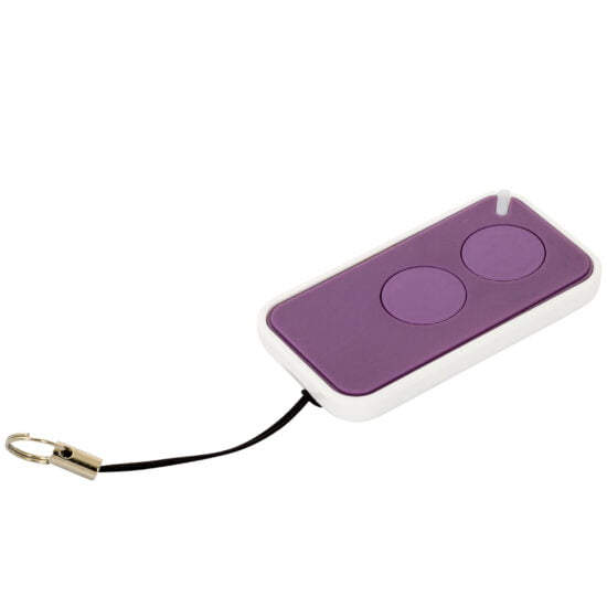 Nice Era Inti Purple Garage Door Remote Control Angle
