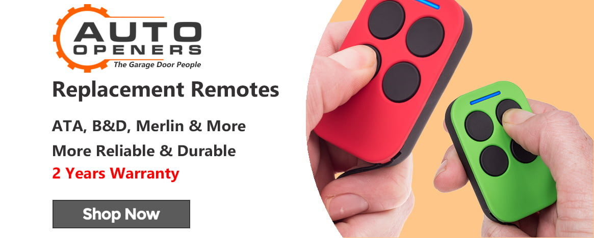 Auto Openers Replacement Remotes Banner
