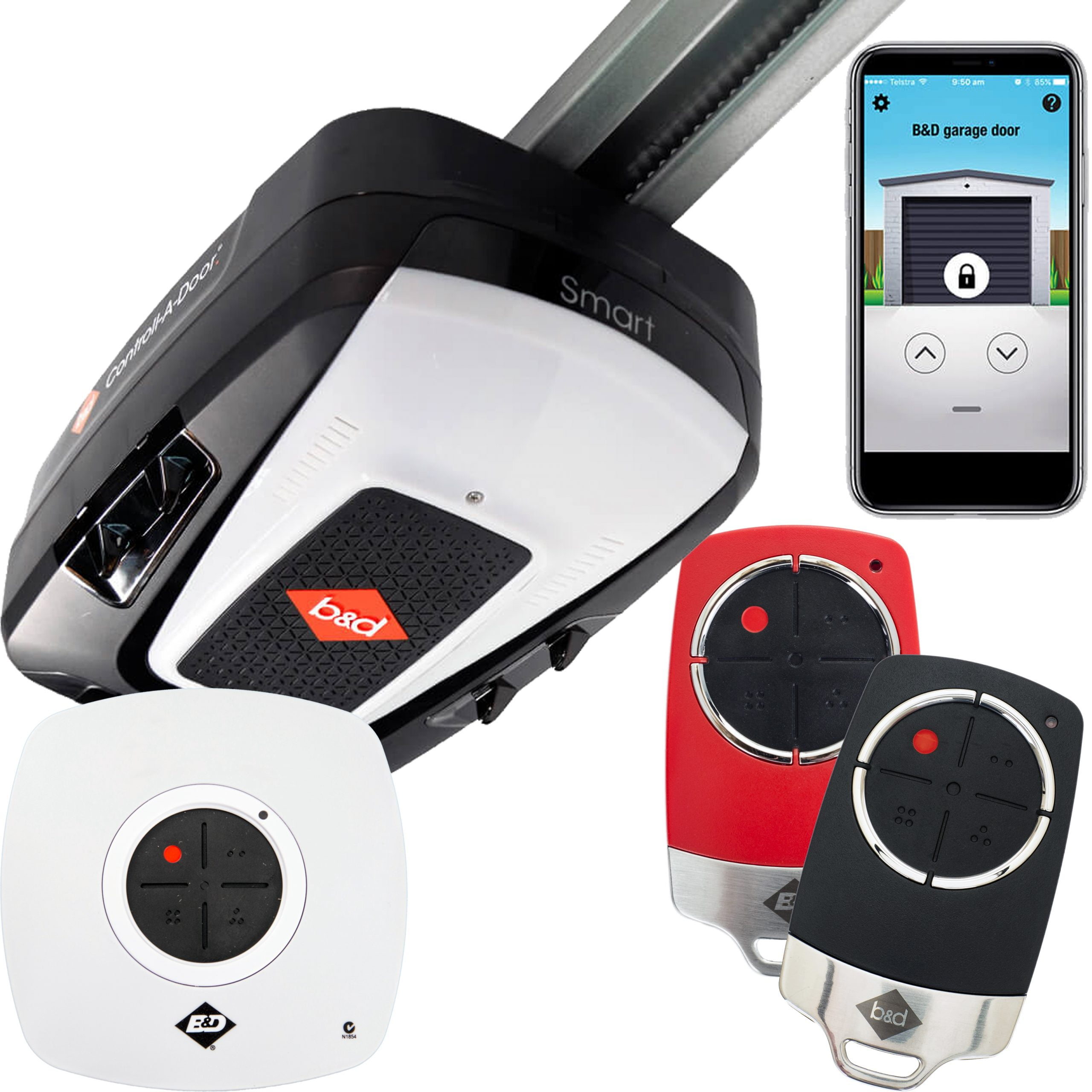 B Amp D Smart Garage Door Opener Garage Door Motor National