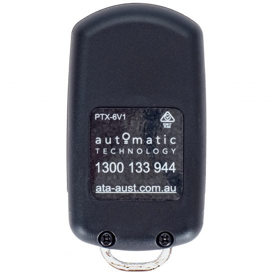 ATA PTX6 Black Remote Control Keyring Back