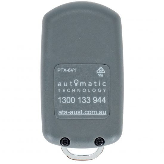 ATA PTX6 Grey Remote Control Keyring Back
