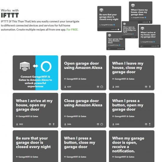 iSmartGate Lite Pro Info Graph IFTTT