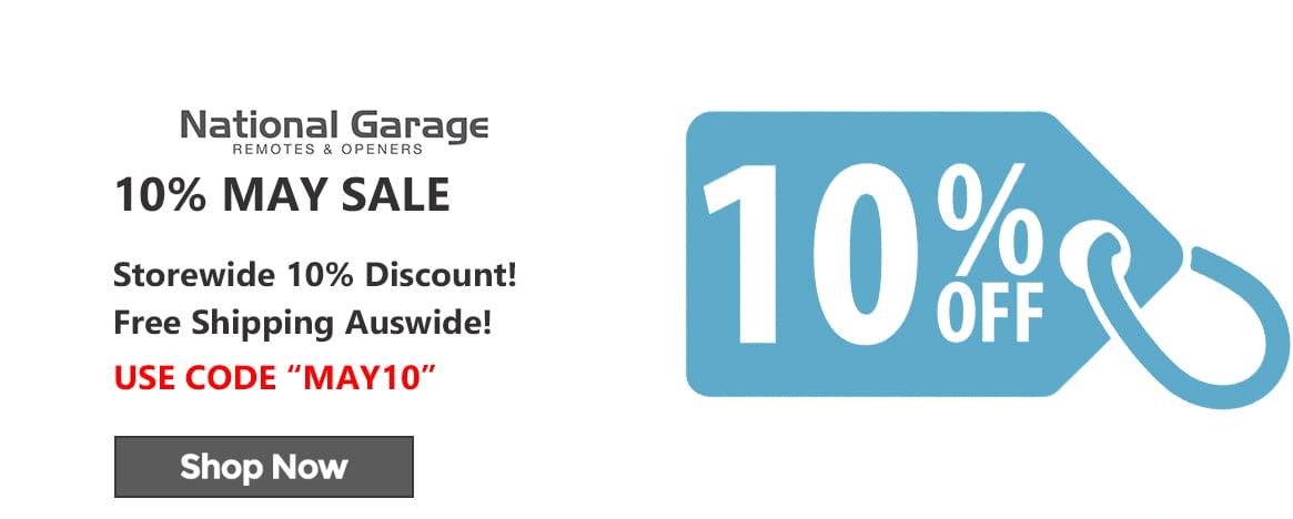 May 10 Discount Sale Website Banner