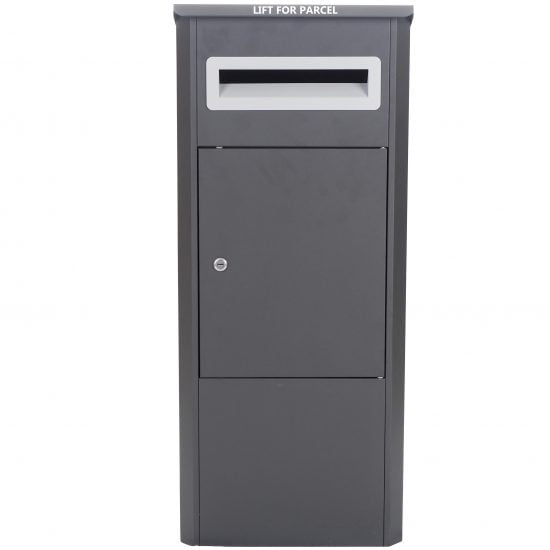 Lockable Free Standing Pillar Letter Parcel Box Locking Front