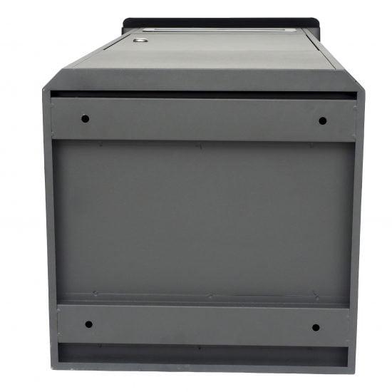 Lockable Free Standing Pillar Letter Parcel Box Locking Bottom