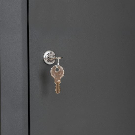 Lockable Free Standing Pillar Letter Parcel Box Keys