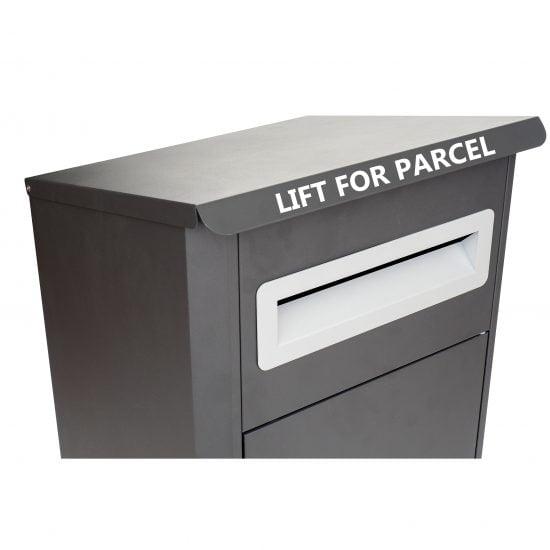 Lockable Free Standing Pillar Letter Parcel Box Slot