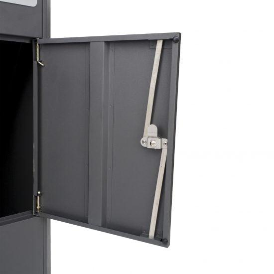 Lockable Free Standing Pillar Letter Parcel Box Locking Bar
