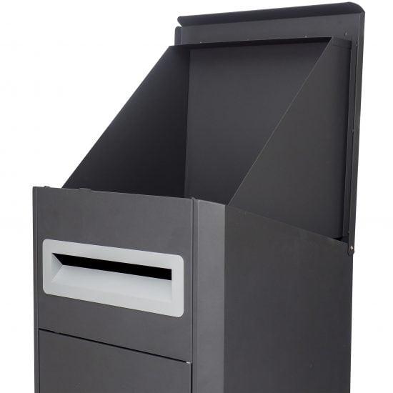 Lockable Free Standing Pillar Letter Parcel Box Locking Lid