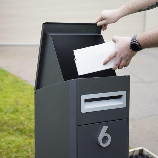 Free Standing Pillar Letterbox Lifestyle Shot 3