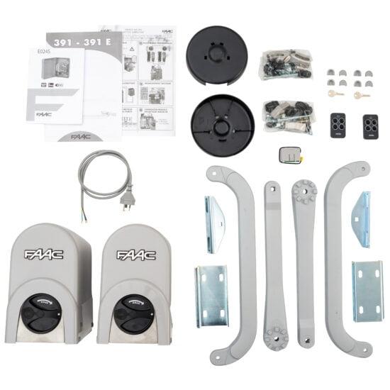 FAAC 391 Linear Swing Gate Opener Kit Contents