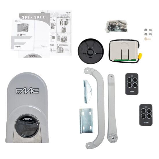 FAAC 391 Linear Swing Gate Opener Kit Motor Single Swing Kit Contents